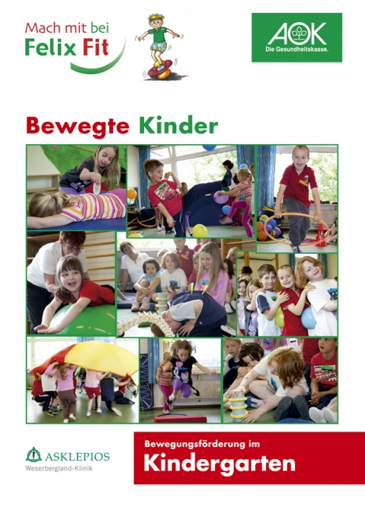 Arbeitsheft Felix Fit <br>Bewegte Kinder - Kindergarten-Version